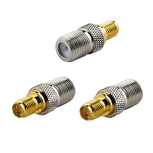 oiyagai 3Pcs SMA Buchse auf F Buchse RF Koaxial-Adapter Stecker (Koaxial F Stecker Buchse Adapter)