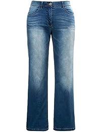 17a821afaec Ulla Popken Women s Plus Size Bleach Wash Marlene Jeans 715040