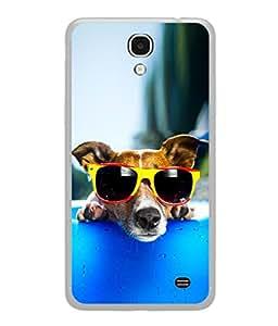 PrintVisa Stylish Dog High Gloss Designer Back Case Cover for Samsung Galaxy Mega 2 SM-G750H