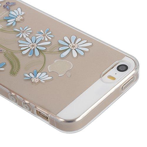 iPhone 6/6S 4.7 Custodia,Ukayfe Elegante Bling Design Particolari Colore Custodia in Gel TPU Silicone, Ultra Sottile Bumper Shell Cover e Cristallo Diamante Glitter Lucido morbido protettiva TPU Case  Fiore