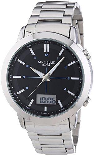 Mike Ellis New York Herren-Armbanduhr XL Analog - Digital Quarz Edelstahl SL4-60220