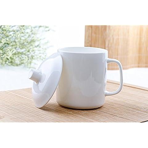 Bone China taza tapa de taza de cerámica oficina tazón de agua de tazas de té hueso taza de agua