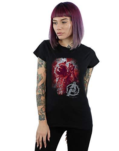 Marvel Damen Avengers Endgame Rocket Brushed T-Shirt Schwarz X-Large