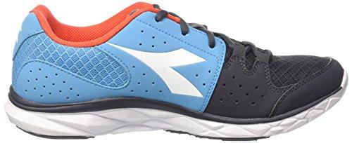 Diadora Hawk 7, Chaussures de Course Homme Bleu (Blu Fluo/arancio Fluo)