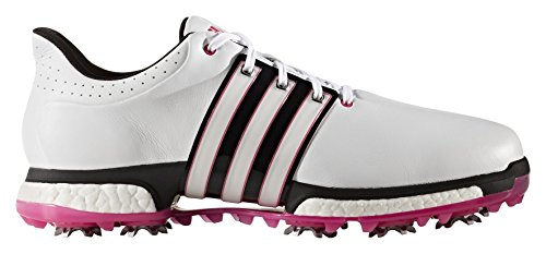 adidas Tour 360 Boost, Scarpe da Golf Uomo, Bianco (White/Core Black/Shock Pink), 44 EU