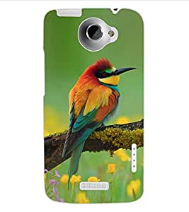 ColourCraft Amazing Bird Design Back Case Cover for HTC ONE X