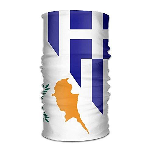 Rghkjlp Flagge von Griechenland und Zypern Unisex-Outdoor-Sportschal-Stirnbänder Bandana-Maske Halsbandagen-Kopfwickel Schweißband Kopfbedeckung Multicolor16