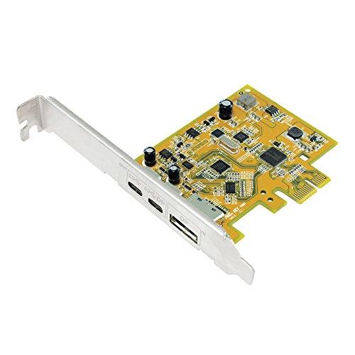 Sunix UPD2018 PCI Express Karte, USB 3.1 C Buchse, USB-C DP Alt Mode - Pci-express-x1-karte