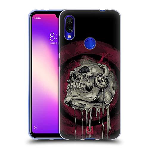 sik Schädel Skull of Rock Soft Gel Hülle für Xiaomi Redmi Note 7/7 Pro ()