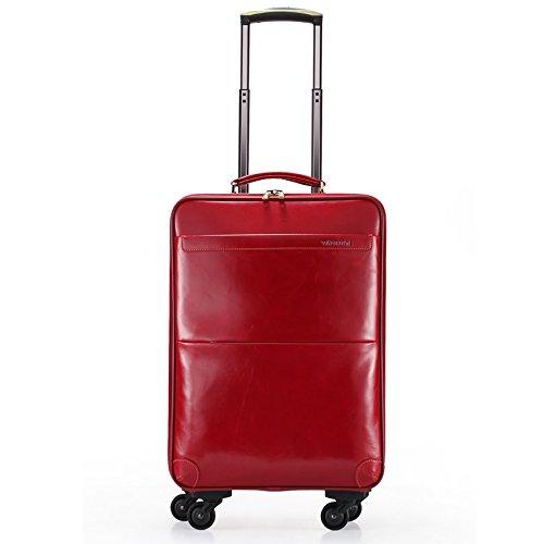 hoom-rueda-universal-maleta-trolley-cabina-equipaje-de-cueroh50l36w22-cmrojo