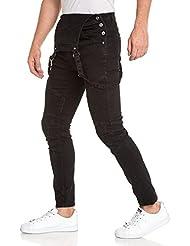 BLZ jeans - Salopette homme noir fashion nervuré