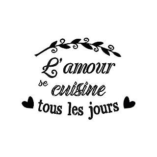 Stickers L'amour se Cultive - 1 Planche 20 x 70 cm
