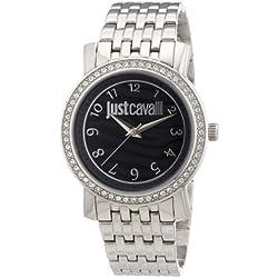 Just Cavalli R7253103501 - Reloj analógico de cuarzo para mujer con correa de acero inoxidable, color plateado