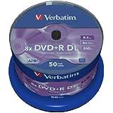 Verbatim 43758 - DVD+R vírgenes (50 unidades), plateado