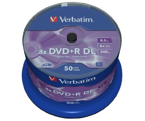 dvd 8gb Verbatim 43758 DVD+R Double Layer, 8,5GB, 8x, 50er Spindel, silber