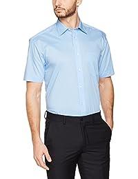 KUSTOM KIT Short Sleeve Classic Fit, Chemise Business Homme