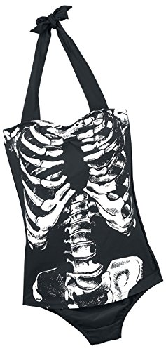 Banned Skeleton Costume da bagno nero XL