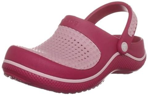 Crocs CrosMesh Clog Kids, Unisex-Kinder Babyschuhe - Krabbelschuhe & Puschen , Rot - Rot - Rouge-TR-B3-57 - Größe: 23