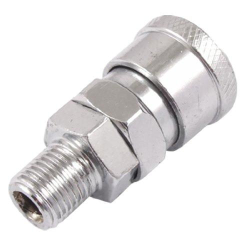 20SM Air prise rapide pour tuyau de pneumatique 1/2, mâle (Ton Argent)