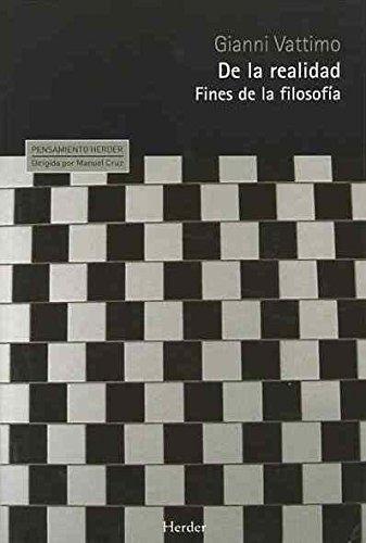De la realidad: Fines de la filosofía (Pensamiento Herder)