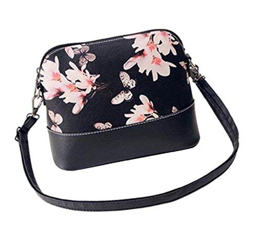 Handtaschen, Rcool Frauen-eleganter Druck Schultertasche Leder Geldbeutel -Schul Messenger Bag