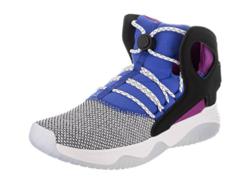 NIKE AIR Flight Huarache Ultra Mens Basketball-Shoes 880856-100_11.5 - White/Black-Lyon Blue-Bold Berry