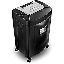 Duronic PS991 Destructeur de Documents 31l – 18 Feuilles de Papier à la Fois/CD / DVD/Cartes bancaires – coupé croisée - Permet conformité avec RGPD