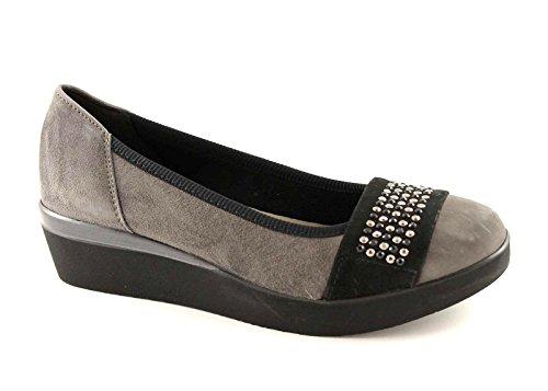 GRUNLAND AUGE SC1760 grigio scarpe donna ballerina zeppetta 40