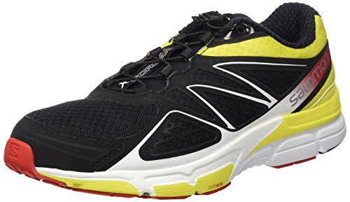 Salomon X-Scream 3D, Scarpe da Trail Running Uomo, Nero (Negro (Black / Corona Yellow / Radiant Red)), 43 1/3 EU