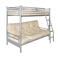 Futon Bunk Frame - Frame Only - Safety Rails - Ladder - Modern design