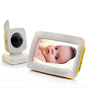 SHOPINNOV Babyphone Video Ecran 7 pouces Audio bidirectionnel Detection de mouvement Vision nocturne