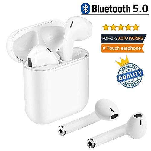 Auricolari Bluetooth 5.0, Cuffie Bluetooth Senza Fili Auricolari Wireless Sportivi in Ear con Custodia da Ricarica Microfono...