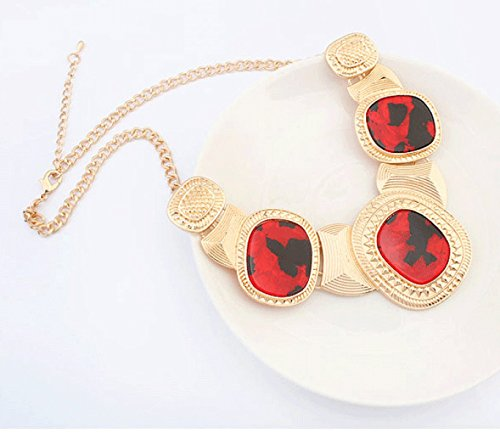 Retro Trend Long Collier red