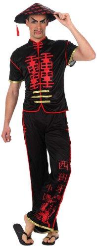 Atosa 10037 - Verkleidung Chinese, Größe 46-48, schwarz (Chinese Mandarin Kostüm)