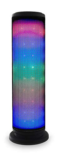 Beatfoxx LEDBeat Pro Portabler LED Bluetooth Lautsprecher - Mobiler Wireless Akku Speaker - Disco Licht Effekt - Drahtlose Box mit USB/SD MP3-Player - Integriertes UKW-Radio