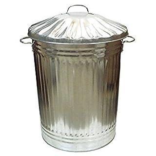 Arboria verzinkt Metall Garten Kosmetikeimer Garage groß Mülleimer Garbage Kompost Eco 90L