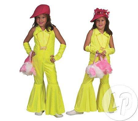 Generique - Neongelbes 70er Jahre Kostüm für Kinder 152 (12-14 Jahre)