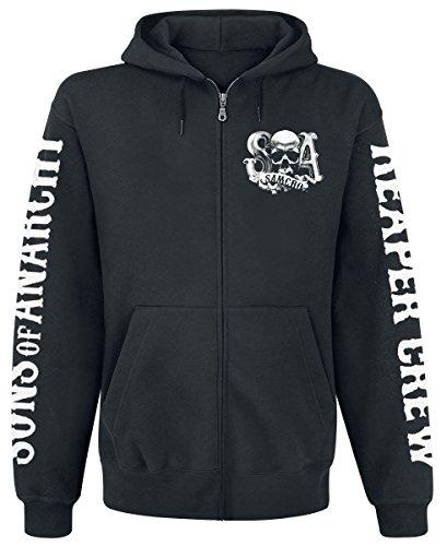Sons Of Anarchy Reaper Crew Sweat à capuche zippé noir L Sons of Anarchy