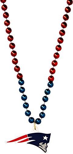 Siskiyou Damen Nicht verwenden New England Patriots Mardi Gras Halskette, Blau, 91,4cm