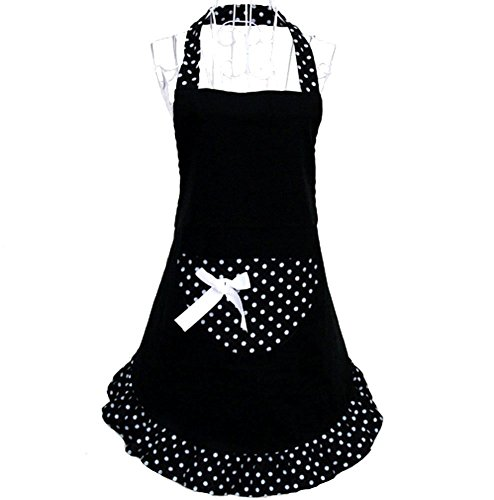 e für Damen reizend sexy Schürze schwarz Schleife Rockabilly Style Tasche Geschenk Idee Petticoat (Geschenk-taschen Schwarz)