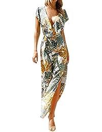 a2323b850f8d3 ZYUEER Tuta Elegante Pantaloni Lungo Jumpsuit Vestito Abito Clubwear Party  Bandage Moda Allentata da Donna,