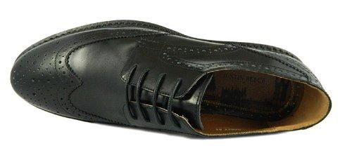 Justin Reece , Chaussures de ville à lacets pour homme Noir - noir