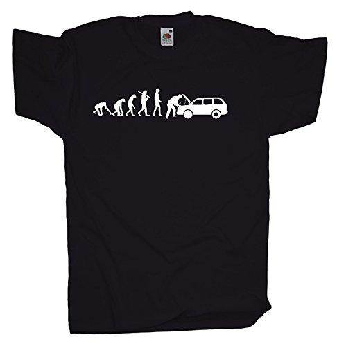 Ma2ca - Evolution - KFZ-Meister - Herren T-Shirt | Reparatur-black-xl