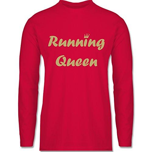 Shirtracer Laufsport - Running Queen - Herren Langarmshirt Rot