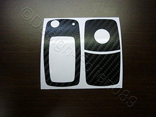 Carbon Schwarz Glanz Schlüssel Key Touran Polo Passat V VI 6N Golf 4 5 6 7 GTI RS R Sharan T5 EOS Beetle 9N Tuning Touareg 2-und 3 Tasten und viele Modelle mehr ()
