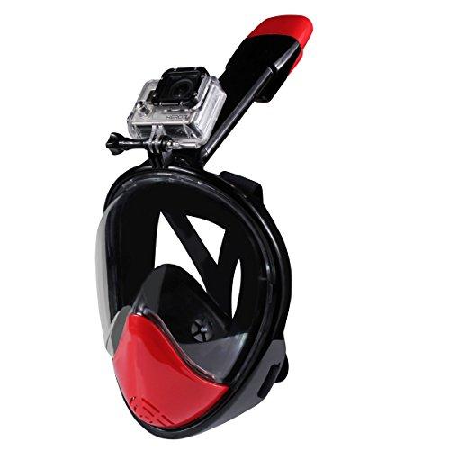 Maschera Subacquea da snorkeling NERO per GoPro HERO 4, 3+. 3, 2, 1 - TAGLIA M