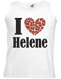 Tank Top Muskelshirt I Love Helene Fanshirt für Echte Fans Ärmellos Farbe Schwarz für Frauen und Männer
