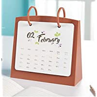 XDXDWEWERT 2019 Desktop Calendar Home-Standkalender Zeitplan Kalender für Office (Rot)