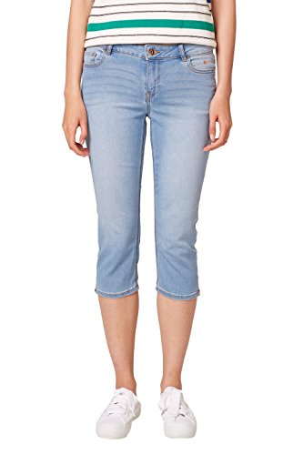 edc by ESPRIT Damen Slim Jeans 038CC1B009, Blau (Blue Light Wash 903), - Für Frauen Denim Bekleidung