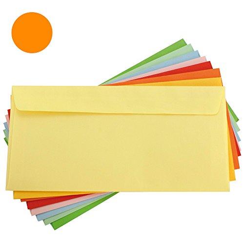 Makro Paper - Busta colorata, 25 pezzi, 110 x 220, arancione